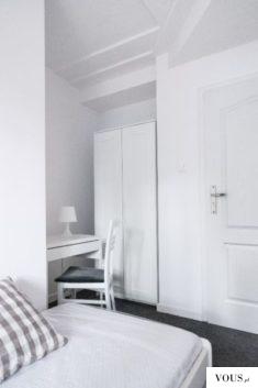 pokój, biały ładny pokój