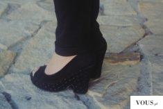 ważkowa : czarne koturny w stylizacji black and coral