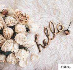 hello – złoty napis