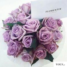fioletowe róże na ślub