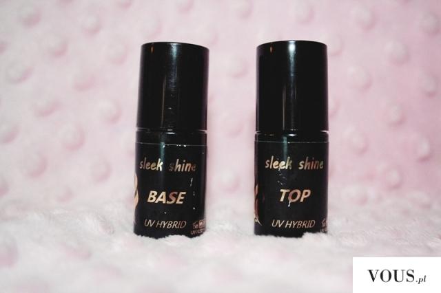 Ważkowa : Paznokcie Hybrydowe : Baza i Top Sleek Shine