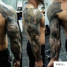 pomysł na tatuaż męski, rękaw