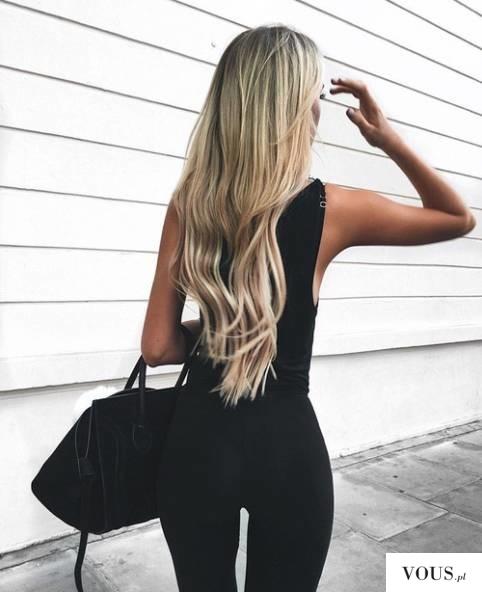 przepiękne długie blond włosy. jak dbać o blond włosy? comment prendre soin de cheveux blonds?