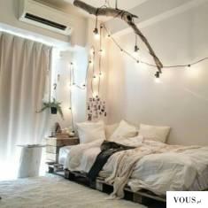 biała piękna sypialnia