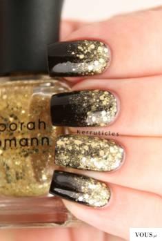 sylwestrowe paznokcie manicure