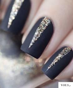 sylwestrowy manicure, paznokcie na sylwestra
