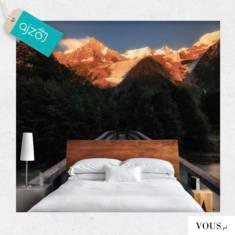 Francuskie Alpy na fototapecie. Dekoracja dzięki swojej optycznej głębi powiększy Twoje pomieszc ...