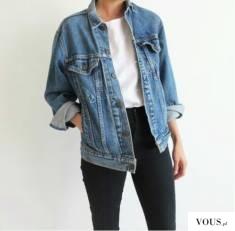 idealny zestaw z jeansową kurtką