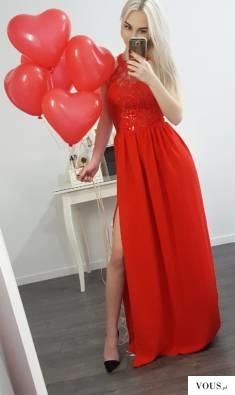 Maxi red dress Olivia