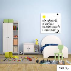 Urocza dekoracja stworzona dla pokoju dziecięcego.