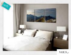 Piękny krajobraz górski na ścianę w sypialni.