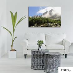Malowniczy krajobraz na ścianę, doskonały do jasnych pomieszczeń.