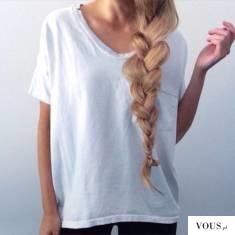 długi i gruby warkocz z blond włosów