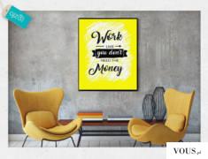 Modny plakat o wyrazistej kolorystyce. Świetnie sprawdzi się w biurowych wnętrzach.
