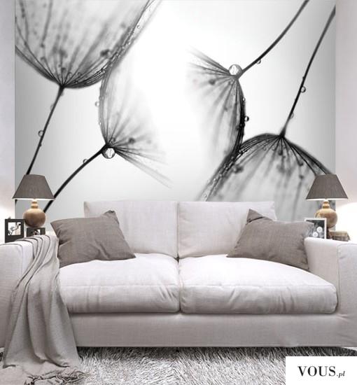 czarno-białe dmuchawce. Doskonałe do salonu oraz sypialni.