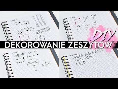 DIY Dekorowanie zeszytów!