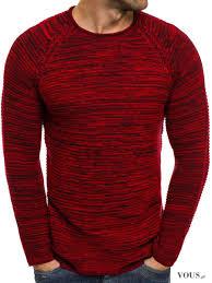 Czarno-czerwony męski swetr