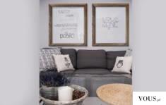 Pomysł na fajną ozdobę w salonie. Jak Wam się podoba? Drewniane ramy ładnie komponują się z jasn ...