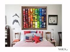 Piękna #dekoracja do #pokoju #chłopca :) Będzie zachwycony obrazem z samochodzikami, popatrz jak ...