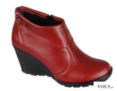Czerwone damskie botki