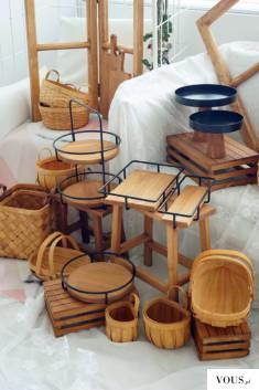 drewniane koszyki