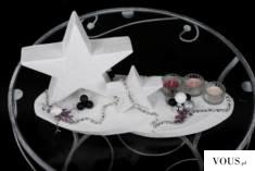 STROIK ŚWIĄTECZNY GWIAZDKI Stan:  Nowy produkt  Dekoracyjny stroik w białej kolorystyce świetnie ...