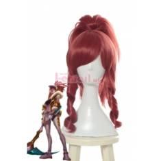 LOL K/DA Skin Akali Prestige Edition Long Ponytail Cosplay Wigs – L-email Cosplay Wig