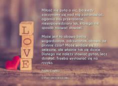 ? Paulo Coelho cytat na temat miłości ? | Cytaty motywacyjne