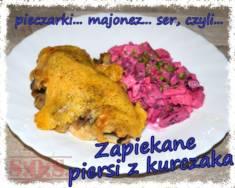 Filety z kurczaka zapiekane z pieczarkami i majonezem | Blog Kulinarny Soczyste filety z kurczak ...