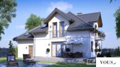 SEJ-PRO 002 ENERGO to reprezentacyjny dom jednorodzinny. Nowoczesność połączona z tradycją, daje ...
