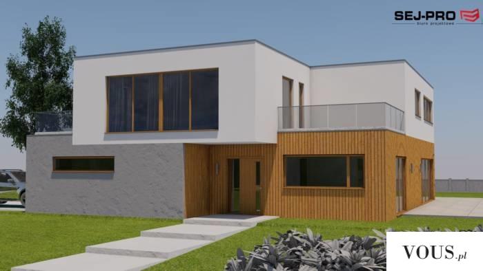 SEJ-PRO 011 ENERGO to projekt domu piętrowego z płaskim dachem, utrzymany w nowoczesnym stylu. N ...