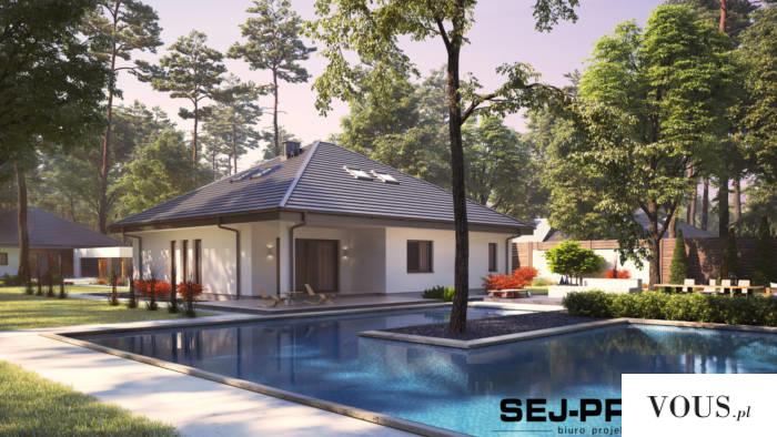 SEJ-PRO 006 ENERGO to wyjątkowy projekt nowoczesnego dom parterowego dla 4-osobowej rodziny. Pos ...