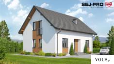 SEJ-PRO 004 ENERGO to uroczy, mały i ekonomiczny dom energooszczędny. Projekt idealny dla 4-5 os ...
