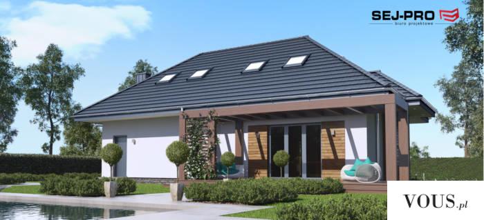 SEJ-PRO 005 ENERGO to reprezentacyjny projekt domu z poddaszem użytkowym, który idealnie sprawdz ...