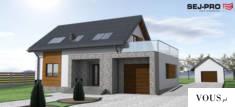 SEJ-PRO 003 ENERGO to mały, prosty, energooszczędny i nowoczesny dom jednorodzinny z poddaszem u ...
