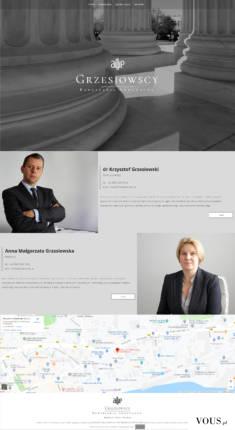 Strona internetowa kancelarii Adwokackiej http://www.grzesiowscy.pl/