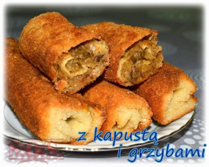 Krokiety z kapustą i grzybami   Blog Kulinarny