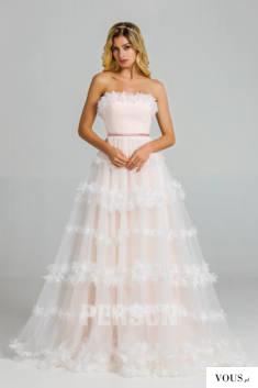 Clarisse : Robe mariée 2020 bohème rose poudré bustier embelli de fleurs 3D
