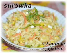 Surówka z białą kapustą i jajkiem – Kulinarne S.O.S.