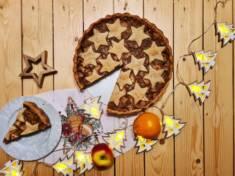 Świąteczna szarlotka z kremem migdałowym | AleTorcik! – przepisy na pyszne, domowe ciasta, ...