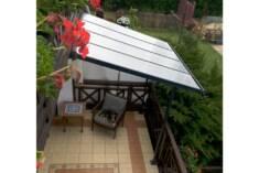 Lekkie ale stabilne zadaszenie tarasu, doskonale nadaje się także do osłonięcia balkonu przed de ...