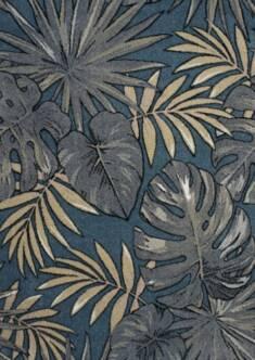 Dywan 120×170 liście palmy niebieski