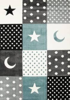 Dywan patchwork gwiazdki niebieski – Sklep Eureka
